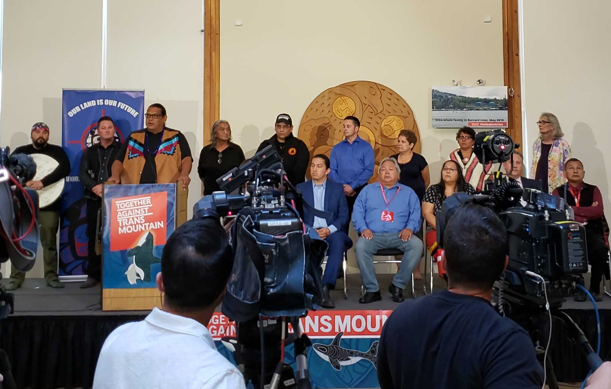 Indigenous leaders' press conference after TMX re-approval (Photo: Eugene Kung)