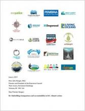 CleanBC Climate Accountability joint letter